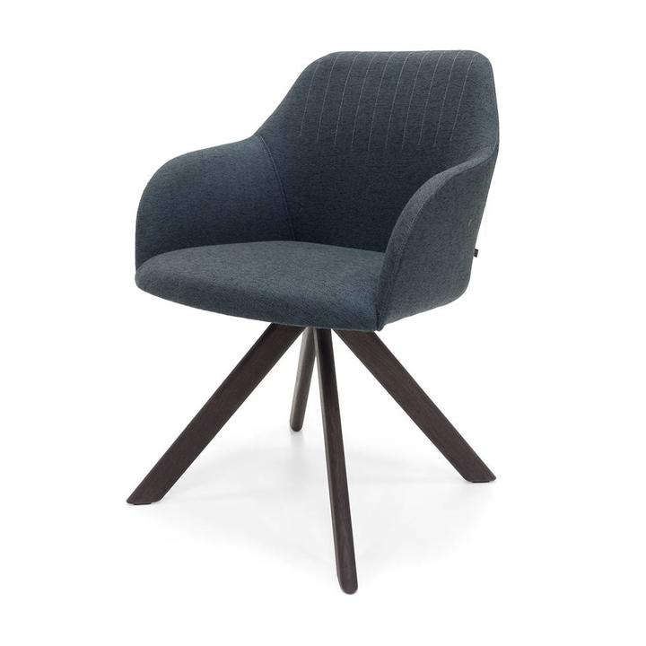 Outlet Stoelen Design.Sale Arco Ease H Brown Oak Morado Dark Blue Sunniva 172