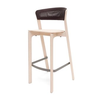 Arco OUTLET | Arco Cafe Stool | Zithoogte 75 cm | Wit-wax eiken