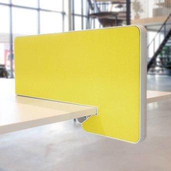 Vitra OUTLET | Vitra Joyn zijscherm | 77 x 39 cm | Geel / pastelgroen plano