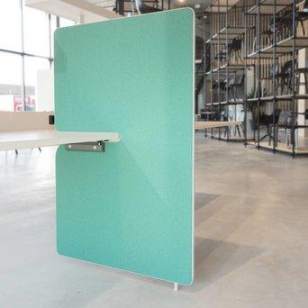 Vitra OUTLET | Vitra Joyn zijwand | 80 x 122 cm | Mint / bos plano | Lichtgrijs kunststof