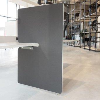 Vitra OUTLET | Vitra Joyn zijwand | 80 x 122 cm | Donkergrijs plano