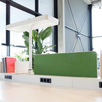 Vitra OUTLET | Vitra Joyn | Zentraler schirm | B 96 x H 33 cm | Plano grass green / forest