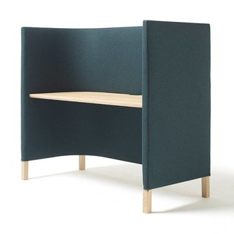 Arco OUTLET | Arco Side by Side WORK | 150 x 70 x 133 cm | Braun eiche naturel | Grün divina melange 871