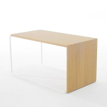 Arco OUTLET | Arco Setup 1 | 64 x 40 x 34 cm | Wit staal | Bruin eiken naturel