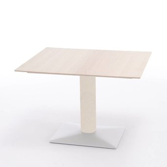 Arco OUTLET | Arco Leaf extendable | 110 x 90 x 75 cm | White oak | White steel
