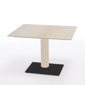 Arco OUTLET | Arco Leaf uitschuifbaar | 110 x 90 x 75 cm | Wit eiken | Zwart staal