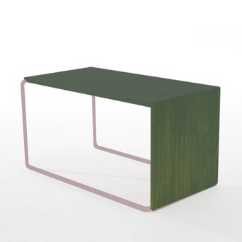 Arco OUTLET | Arco Setup 1 | 56 x 32 x 30 cm | Roze staal | Eiken groen