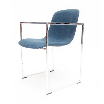 Arco OUTLET | Arco Frame II | Verchroomd staal | Blauw Divina Melange 771