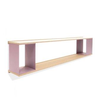 Arco OP=OP | Arco Scene Wandkast | 189 x 27 x 39 cm | Bruin eiken naturel | Paars staal