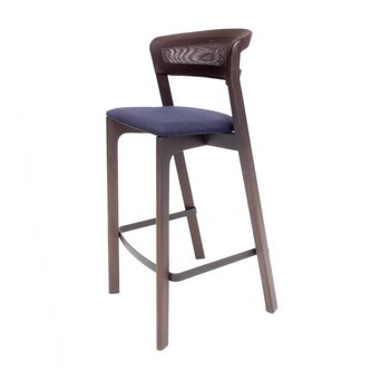 Arco OUTLET | Arco Cafe Stool | Seat height 75 cm | Brown oak morado | Dark blue hero 791