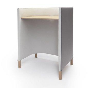 Arco OP=OP | Arco Side by Side Work Table Standing | 100 x 70 x 133 | Grijs hero 231 | Wit hero 101 | Bruin eiken naturel