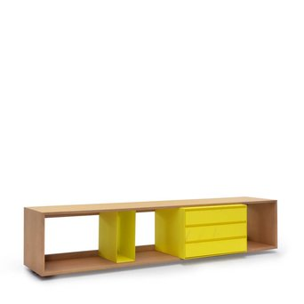 Arco OUTLET | Arco Scene | 189 x 44,6 x 40 cm | Bruin eiken naturel | Lime staal
