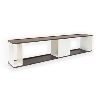Arco OP=OP | Arco Scene Wandkast | 189 x 27 x 39 cm | Bruin eiken morado | Wit staal