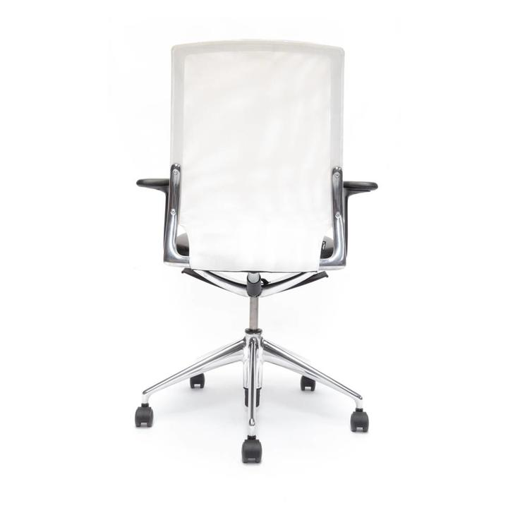 Refurbished Vitra Meda Chair | White | Black