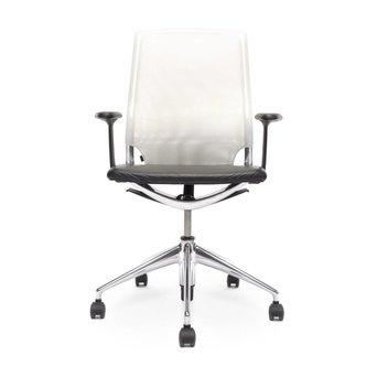 Vitra Refurbished Vitra Meda Chair | Weiß | Schwarz