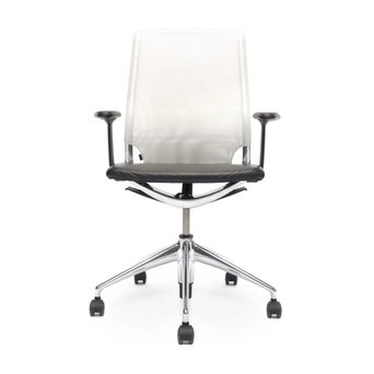 Vitra Refurbished Vitra Meda Chair | White | Black