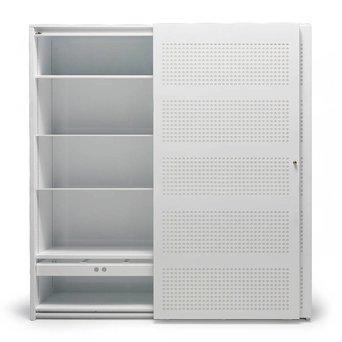 Gispen SALE | Gispen SDK | 180 x 40 x 195 cm | White satin gloss | Round perforated