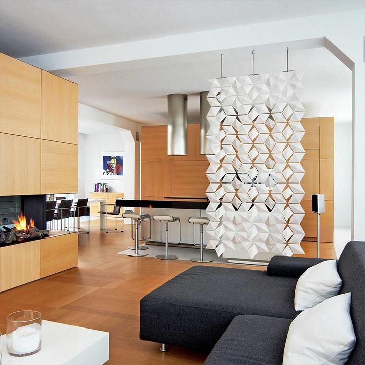 Bloomming Facet Room Divider | Hangend | B 102 x H 210 cm