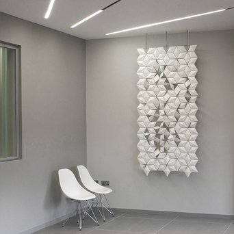 Bloomming Facet Room Divider   Hangend   B 102 x H 230 cm