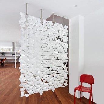 Bloomming Facet Room Divider   Hangend   B 136 x H 210 cm