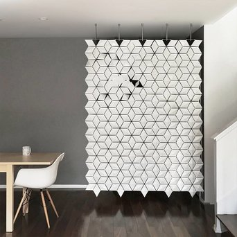 Bloomming Facet Room Divider   Hangend   B 170 x H 249 cm