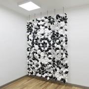 Bloomming Facet Room Divider Mix   Hängend   B 204 x H 288 cm