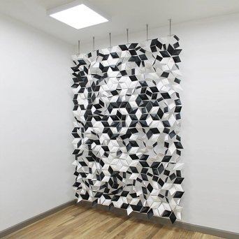 Bloomming Bloomming Facet Room Divider Mix | Hangend | B 204 x H 288 cm