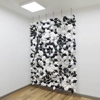 Bloomming Facet Room Divider Mix   Hangend   B 204 x H 288 cm