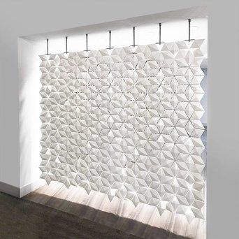 Bloomming Facet Room Divider   Hangend   B 238 x H 230 cm