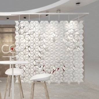 Bloomming Facet Room Divider   Hangend   B 238 x H 249 cm