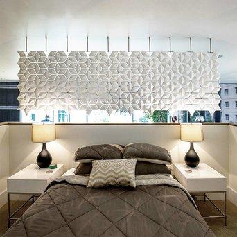 Bloomming Facet Room Divider   Hangend   B 340 x H 131 cm