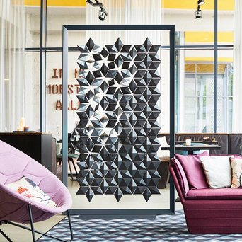 Bloomming Bloomming Facet Room Divider | Freistehend | B 136 x H 219 cm