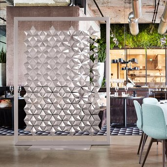 Bloomming Bloomming Facet Room Divider | Freistehend | B 170 x H 219 cm