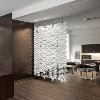 Bloomming Facet Room Divider | Hängend | B 136 x H 269 cm