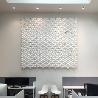 Bloomming Facet Room Divider   Hangend   B 306 x H 288 cm
