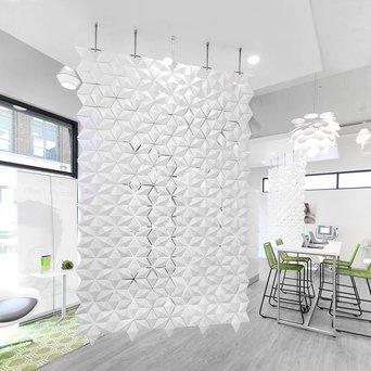Bloomming Facet Room Divider   Hangend   B 170 x H 288 cm