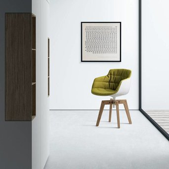 MDF Italia MDF Italia Flow Slim | Padded | Four-legged oak