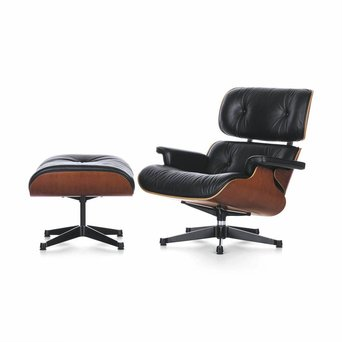 Vitra Vitra Lounge Chair & Ottoman | Cherry