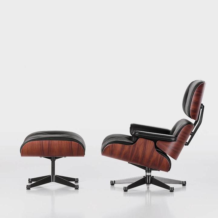 Astounding Vitra Lounge Chair Ottoman Santos Palisander Creativecarmelina Interior Chair Design Creativecarmelinacom