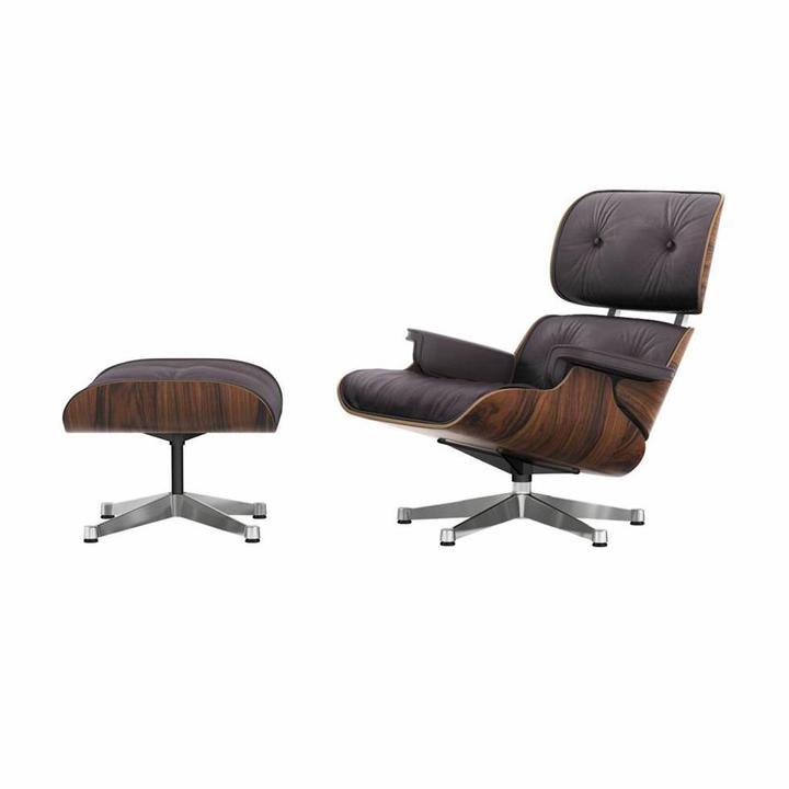 Vitra Vitra Lounge Chair Ottoman Santos Palisander Workbrands