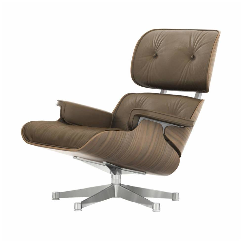 Eames Lounge Stoel.Vitra Vitra Lounge Chair Walnut White Pigmented Workbrands