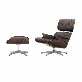 Vitra Vitra Lounge Chair & Ottoman | Notenhout, zwart gepigmenteerd