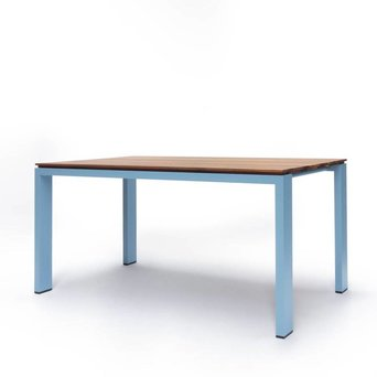 Arco OUTLET | Arco Graphic Ausziehbar | 155 x 90 x 75 cm | Braun amerikanisch walnuss | Blau aluminium