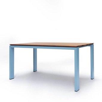 Arco OUTLET | Arco Graphic Uitschuifbaar | 155 x 90 x 75 cm | Bruin amerikaans noten | Blauw aluminium