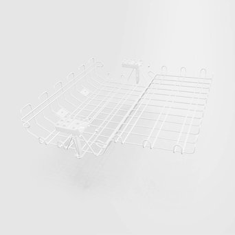 Vitra OUTLET | Vitra cable basket | White steel | 50 x 52 cm