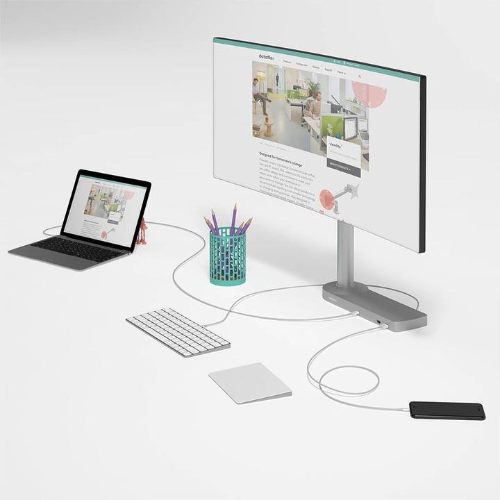 Dataflex Viewlite Link USB-C docking station EUR - desk 80