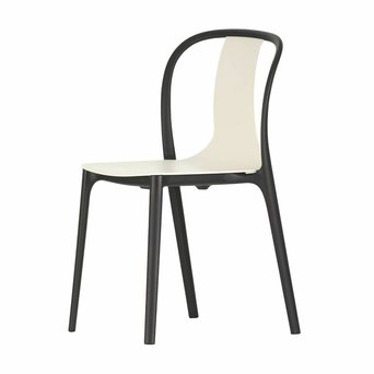 Vitra OUTLET | Vitra Belleville Chair Plastic | Deep black plastic | Cream plastic
