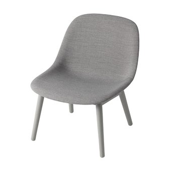 Muuto Muuto Fiber Lounge Chair | Wood base | Volledig bekleed