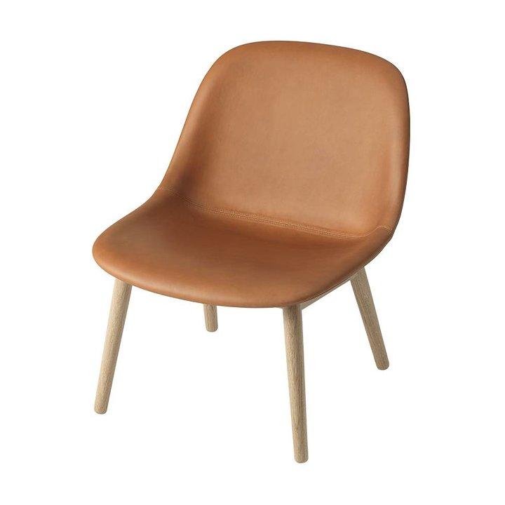 Muuto Fiber Lounge Chair | Wood base | Full upholstery