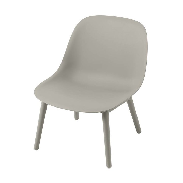 Muuto Fiber Lounge Chair | Wood base
